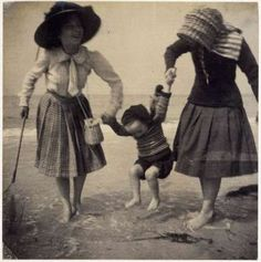 Maurice Denis Two girls, paddling in the sea, swinging little Madeleine, Perros-Guirec 1909 Gelatin silver print Maurice Denis, Mother And Child Reunion, Saint Germain En Laye, Avant Garde Artists, Victorian Life, Gelatin Silver Print, Daguerreotype, Dance Photos, Ansel Adams