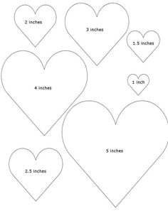 See 4 Best Images of Heart Template Printable Different Sizes. Inspiring Heart Template Printable Different Sizes printable images. Free Printable Heart Template Free Printable Heart Template Different Size Heart Templates Free Printable Heart Patterns Felt Ornaments Patterns, Felt Patterns, Applique Patterns, Quilling Patterns, Knitting Patterns, Sewing Patterns, Felt Applique, Craft Patterns, Shape Patterns