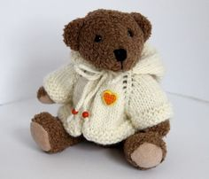 Teddykleidung-Kaputzenjacke-fur-25-30-cm-Teddy-Handarbeit-Jacke-Teddyjacke-NEU