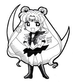 Sailor Moon - chibi Sailor Moon INK by Vestal-Spirit.deviantart.com on @DeviantArt