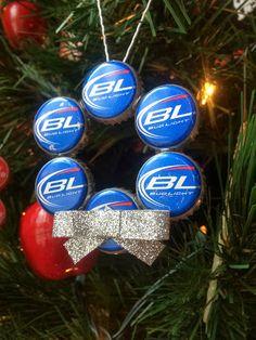 Beer Cap Wreath Ornament