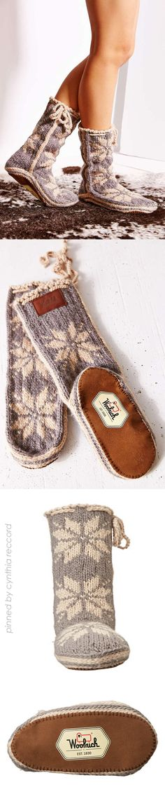 The Woolrich ® Chalet Sock is ideal for taking it easy after a long day on the slopes, $70 | cynthia reccord
