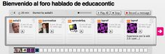 Voxopop - aplicación web para crear audio foros