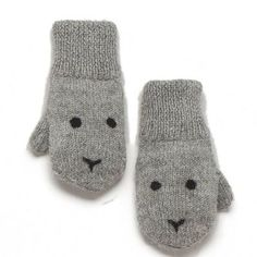 Bunny Mittens by Oeuf Layette Knit Mittens, Mitten Gloves, Baby Mittens, Outfits Niños, Kids Outfits, Little People, Little Boys, Bunny Face, Baby Alpaca