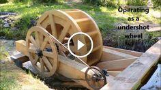 Roda d'água  roda de água, roda de água de madeira, water wheel, wooden water wheel