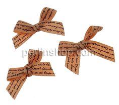 Mode Dekoration Blumen, Satinband, Schleife, mit Brief Muster, Orange, 38x20x5mm