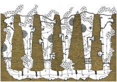 """Galeria de Ilustrações das """"Cidades Invisíveis"""" de Italo Calvino - 5"""