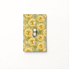 Abstract Retro Flowers W/ Back  - Switch Plate 1