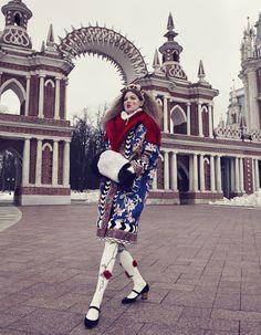 Vogue Japan – December 2013 – Photographed by Emma Summerton. Work by Giovanna Battaglia.