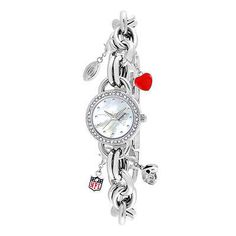 New England Patriots Charm Series Ladies Watch - The Skybox Store
