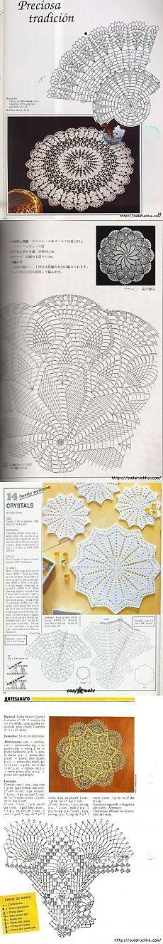 Openwork napkins. Crochet.