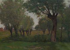 Charles Warren Eaton, (American/Dutch, 1857-1937), Spring Shades of Green.