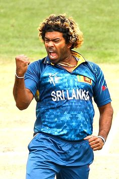 Lasith Malinga celebrates a wicket during the 2015 ICC Cricket World Cup match between Sri Lanka and Afghanistan at University Oval on February 22, 2015 in Dunedin, New Zealand.