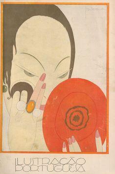 1921 - Ilustração Portuguesa  Applying makeup