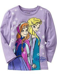 """Disney© """"Frozen"""" Snow Sisters Tees for Baby @Donna Maywald Navy"""