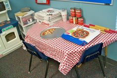 Turning dramatic play into a pizza shop 2