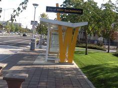 Nice Bus, West Sacramento, Bus Shelters, Sidewalk, City, Side Walkway, Walkway, Cities, Walkways