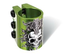 Madd Gear MGP Green Water Decal Triple Scooter Clamp