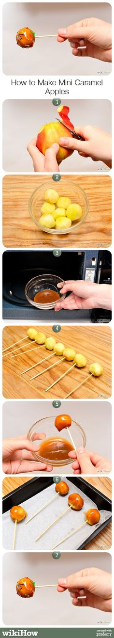 How to Make Mini Caramel Apples