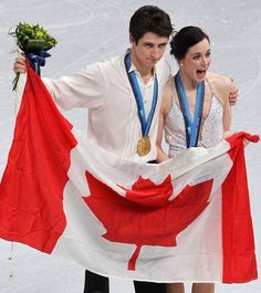 Tessa Virtue and Scott Moir <--- just pinning because she shares my name :)
