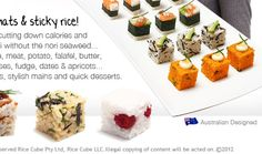 Welcome to the Rice Cube website - Let's make rice cool! - I want one.