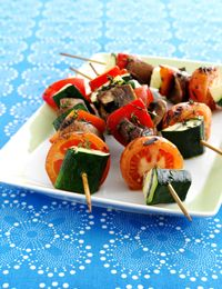 Grillede grøntsagssticks