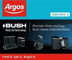 Bush home entertainment with Argos