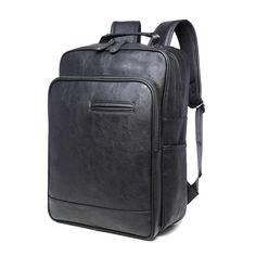 298969c3bb4 2017 new men bag summer male backpack Pu leather simple High-quality high-capacity  Travel laptop bag men and women student bag