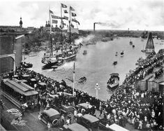 Saw this at a bar in Tampa. Did some internet hunting. Gasparilla boat parade 1922.