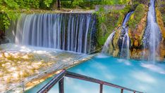 11 Most Beautiful Waterfalls in Greece - Sofia Adventures Natural Baths, Kai, Greece Holiday, Small Waterfall, Rock Pools, Beautiful Waterfalls, Thessaloniki, Winter Landscape, Albania