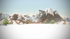 Low Poly snow scene