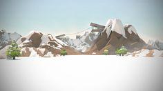 Low Poly snow scene