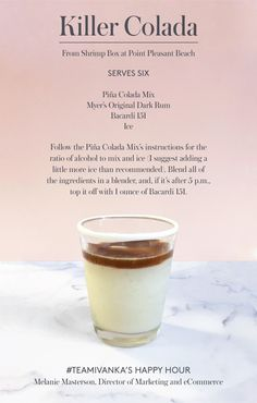 "Try Mel's ""Killer Colada"" on a hot day."