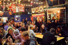Dra til Danmark og sjekk ut Aarhus Street Food i desember, og smak på deilig street food med ... Aarhus, Street Food, Times Square, Viajes