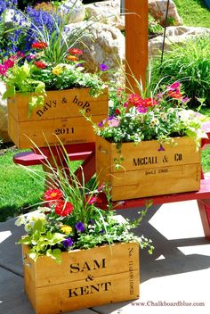 Old Crate Planter Boxes