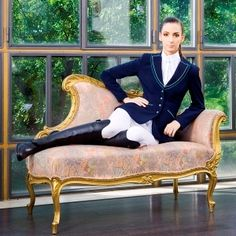 """""""An equestrian is not an ordinary person, so, my competition wear has to be uniqe and special. That's why my wear is LotusRomeo""""  #equestrian #fashion #showclothes"""