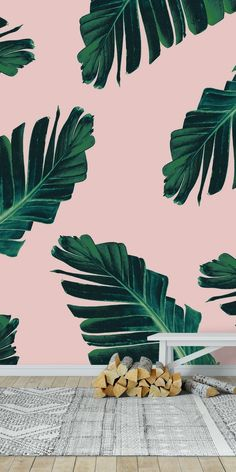 Cottage House Plans, Cottage Homes, Tropical Vibes, Tropical Paradise, Paradis Tropical, Tropical Wallpaper, Nature Wallpaper, Pink Jungle Wallpaper, Botanical Wallpaper