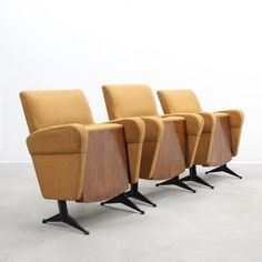 Located using retrostart.com > Cinema Lounge Chair by Unknown Designer for Unknown Manufacturer