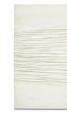 Piero Manzoni -- Achrome (kaolin on canvas). 80x100cm.  Really like the simplicity of this and the change in the conventional look of the canvas.