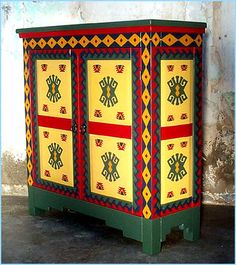 Mexican Painted Furniture | mexican painted furniture is perfect for a western ranch rustic