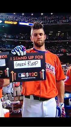 Bryce Harper....Great player with a big heart.