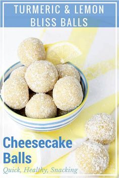 Thermomix Lemon Bliss Balls taste like decadent cheesecake filling rolled in coconut! I'm not kidding, they taste just like cheesecake. Except, unlike the dessert, these little bites are perfectly healthy. Thermomix Recipes Healthy, Raw Food Recipes, Dessert Recipes, Cooking Recipes, Lemon Recipes, Sweet Recipes, Healthy Sweet Snacks, Healthy Dishes, Healthy Food