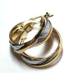 Two tone hoop earrings Two tone hoop earrings Jewelry Earrings