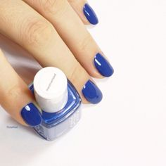 Leave them stunned with a royal blue 'mezmerised' manicure.
