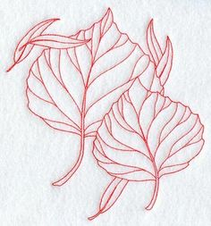 Embroidery Library. Aspen Leaves