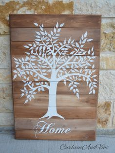 Family Tree-Pallet Board-Wedding Gift-Pallet Wall Art-Rustic Barnwood Decor-Tree Of Life-Flags-Shabby-Reclaimed Wood-Hand…