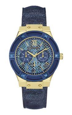 9e4217d98f4 92506LPGSDC6 Relógio Feminino Pulseira Jeans Guess Relógios Elegantes