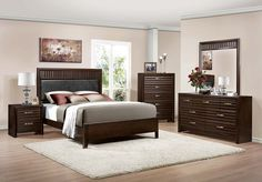 dark wood bedroom furniture tips to for headboard decorations -Bedroom Ideas Dark Furniture Best Furniture Online, Cheap Furniture Stores, Dark Wood Bedroom Furniture, Brown Furniture, Next Bedroom, Bedroom Sets, Bedrooms, Headboard Decor, Bedroom Decor