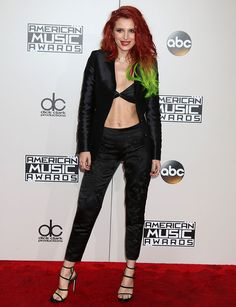 Bella Thorne at the American Music Awards 2016 held at the Microsoft Theater in Los Angeles on November 20, 2016