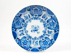 Learned @ A Superb @ Porceleyne Fles Polychrome Delft Plate With A Bird 1930 Pottery & China